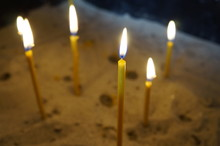 Religious Candles Burn In A St...