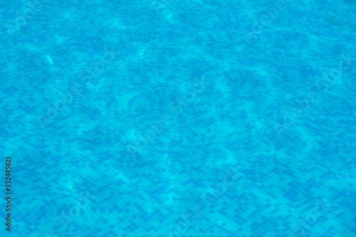 piscina de natación con agua y sin personas Wallpaper Mural