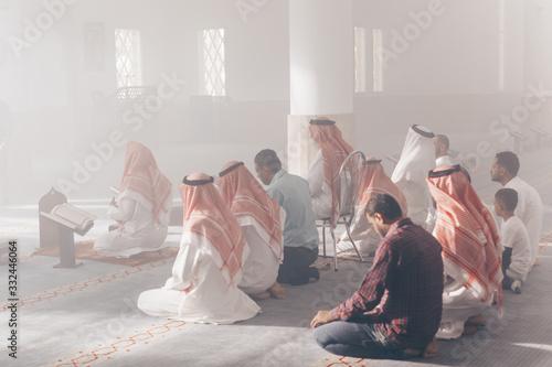 Islamic Prayer people in mosque Muslims Saudi Arabia ramadan Wallpaper Mural