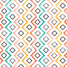 Colorful Squares And Zigzag Pa...