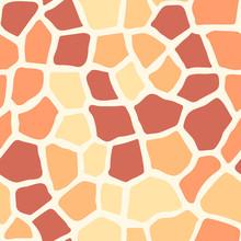 Seamless Orange Pattern Giraff...