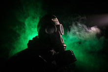 Gas Mask With Clouds Of Smoke ...