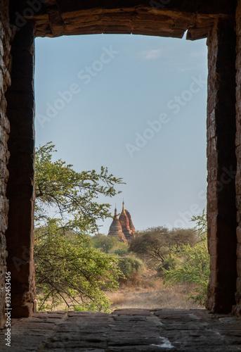 Old Pagodas Bagan Myanmar Canvas-taulu