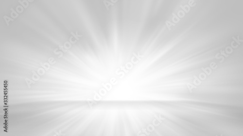 Fototapety, obrazy: Abstract white gray background with light flare for product display