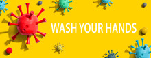 Wash Your Hand Theme With Viru...