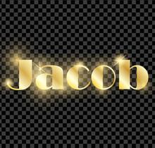 Gold Shining Name Isolated. Ha...