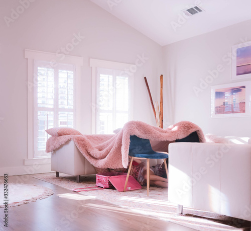 Fotografie, Obraz Kid's Fort in Modern Living Room