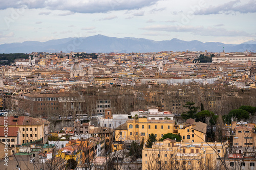 Aerial panorama of Rome Wallpaper Mural
