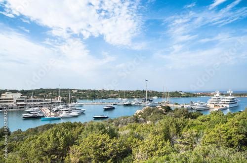 The marina of Porto Cervo, Sardinia, Italy Poster Mural XXL