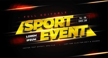 Sport Event Text Effect Design...