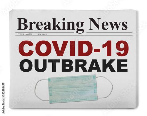 Fototapeta Covid-19 headline obraz