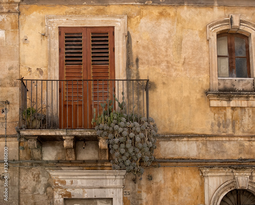 Noto cityscape. View to Historical Buildings. Sicily, Italy. Wall mural