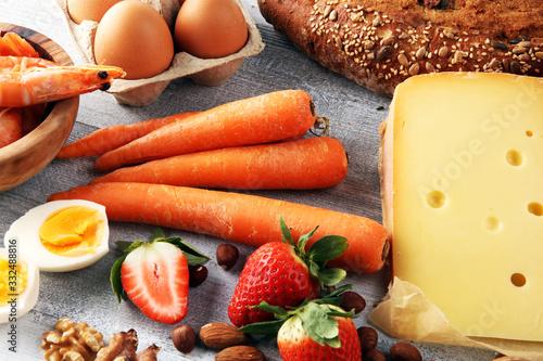 Allergy food concept Wallpaper Mural