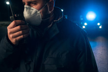 Police Man With Surgical Mask ...