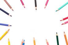 Color Pencils With White Backg...