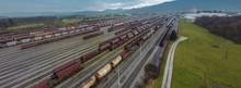 Train Marshalling Yard Seen Fr...