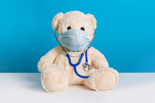 Cute Teddy Bear Doctor With Pr...