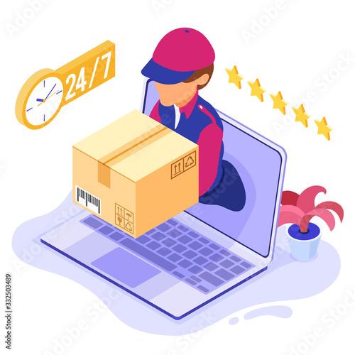 online order package delivery service Fotobehang