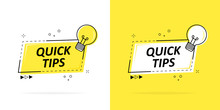 Quick Tips With A Logo, Badge ...