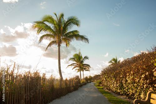 Sunset in Jupiter Florida in the Summer Tablou Canvas