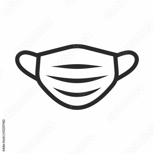 Stampa su Tela Medical face mask icon set