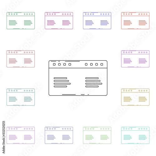 Photo Airfare schedule multi color style icon