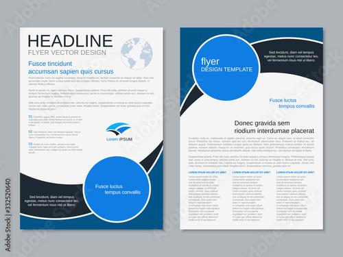 Fototapeta Modern professional two-sided flyer vector design template obraz na płótnie
