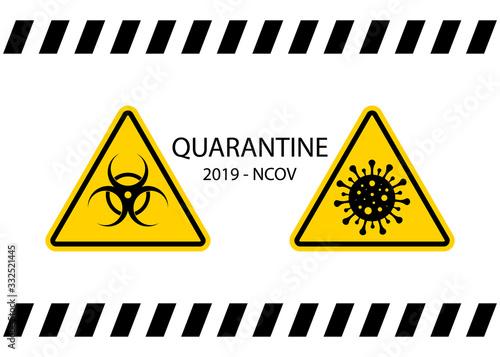 Quarantine signs Wallpaper Mural