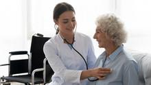 Positive Female Caregiver Visi...