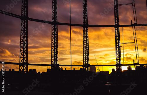 Photo Orange Skies over Hackney Gasworks