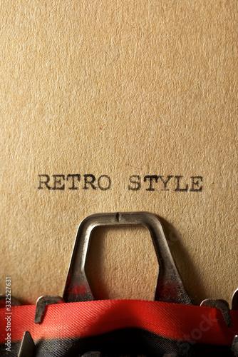 Obraz Retro style concept - fototapety do salonu