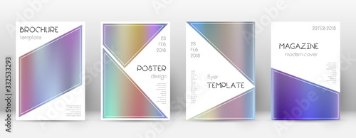 Photo Flyer layout. Triangle astonishing template for Br