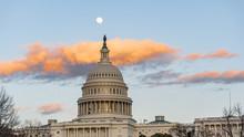 Washington Capitol At Sunset W...