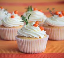 Tasty Vanilla Cupcakes With Se...
