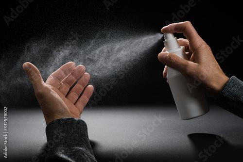 Desinfektion Spray Desinfektionsspray Hände Händedesinfektion Canvas Print