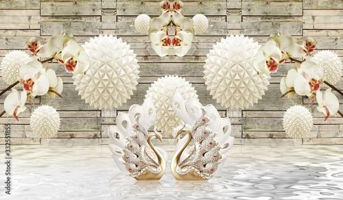 Fototapeta kwiaty   3d-floral-backgroun-ilustration