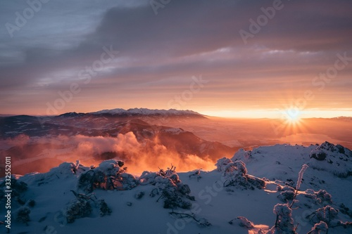 Sunrise in the moutains