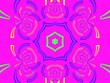canvas print picture - Beautiful abstract pattern, background with various form effect, kaleidoscope geometric style, mandala ornament designe, texture background made from fractal flower for use at graphic design. wrapping