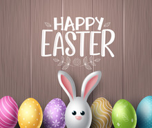 Happy Easter Vector Background...
