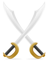 Old Retro Pirate Sword Vector ...