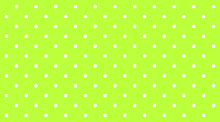 Polka Dot White On Lemon Green...