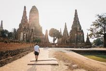 Traveler Tourist Man Walking A...