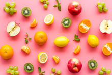 Colorful Fruit Pattern. Cut Ap...