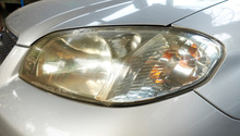 Dirty Headlamp Of Car, Backgro...