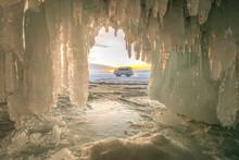 Lake Bikal In The Winer Russia