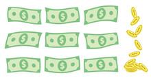 Set Of Falling US Dollar Bank ...