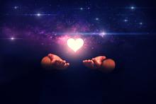 Spiritual Image: Hands With Sh...