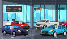 Car Showroom Center With Autos...