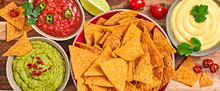 Nachos Mexican Corn Chips With...