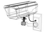 Fototapeta Sport - Surveillance Camera - blueprint